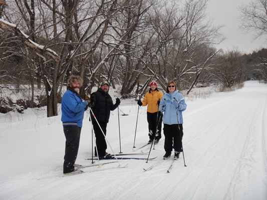 Folks out on Cross Country Skiis
